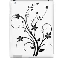 B&W flower scroll iPad Case/Skin