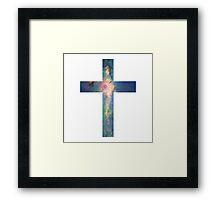 A Cross in the Stars Framed Print