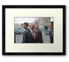The Prime Minister of  Malaysia at City Hall London Framed Print