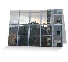 Reflection in skyscraper windows Greeting Card