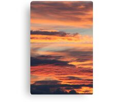 Summer sunset in Hedmark, Norway Canvas Print