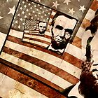 President Abraham Lincoln Patriotic Flag by morningdance