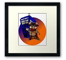 Doctor Who Hamster Jelly baby? Framed Print