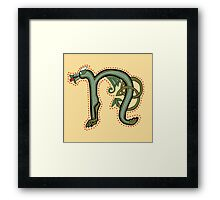 Celtic Oscar letter N - version 2 Framed Print