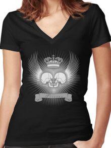 Eros tanatos Women's Fitted V-Neck T-Shirt