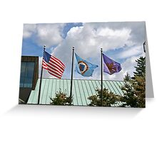 Minute Men Flag in the Center Greeting Card