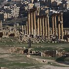 Roman Road in Jerash Jordan by Ren Provo