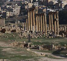 Roman Road in Jerash Jordan by Ren Provo