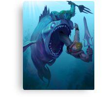 Mer-Man v He-Man Canvas Print