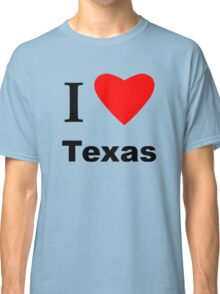Heart Shaped Lone Star Flag Classic T-Shirt