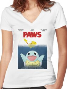 Pokemon Paws Women's Fitted V-Neck T-Shirt