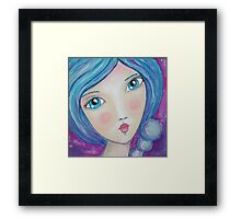 Viola Sea Pearl Framed Print