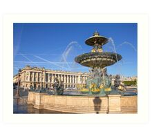 Place de la Concorde, Paris, France Art Print