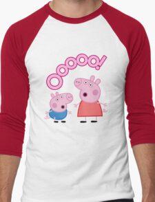 Peppa Pig Ooooo! Men's Baseball ¾ T-Shirt