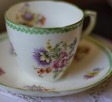 a bit of vintage china by Justine Gordon