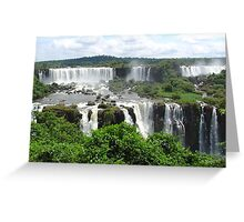 Iguazu waterfalls Greeting Card
