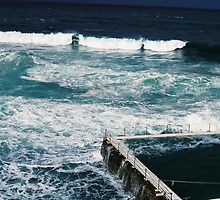 Bondi icebergs pool on film by Justine Gordon