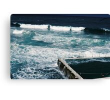 Bondi icebergs pool on film Canvas Print