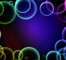 Colorful bubbles in a frame by gianliguori