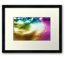 Abstract background with colorful lights Framed Print