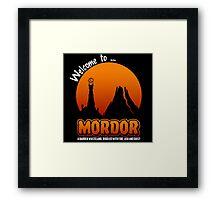 Visit to Mordor Framed Print