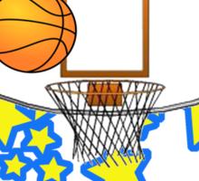 Retro Basketball Design Sticker