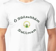 Sullivan Surname 2 - Light Shirts with Claddagh Unisex T-Shirt