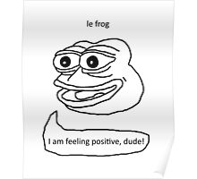 Le Frog Poster
