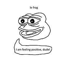 Le Frog Photographic Print