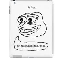 Le Frog iPad Case/Skin