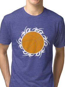 Round Basketball Tribal Tri-blend T-Shirt