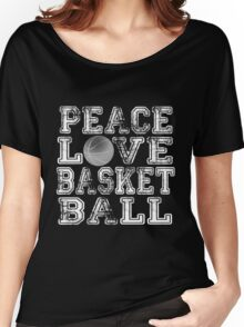 Peace, Love, Basketball Women's Relaxed Fit T-Shirt