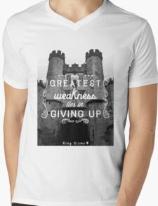 Our Greatest Weakness Mens V-Neck T-Shirt