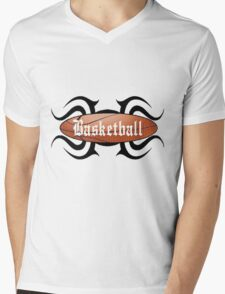 Basketball Tribal Mens V-Neck T-Shirt