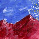 Red Mountain Sun Mandala by Daniel ML
