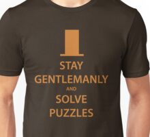 STAY GENTLEMANLY and SOLVE PUZZLES (orange) Unisex T-Shirt