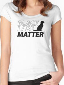 Black Labs Matter - Hunter Orange Women's Fitted Scoop T-Shirt