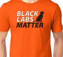 Black Labs Matter - Hunter Orange Unisex T-Shirt