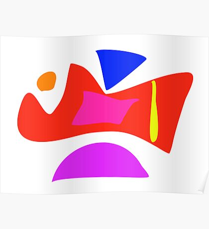 Original Abstract Happiness Poster