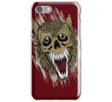 Hellish Beast on Dark Red iPhone Case/Skin