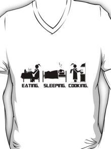 Eating. Sleeping.Cooking Female T-Shirt T-Shirt