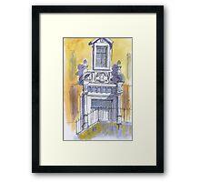 portico igreja de carnaxide Framed Print