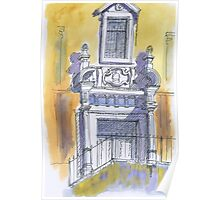 portico igreja de carnaxide Poster