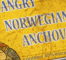 Angry Norwegian Anchovies Sticker