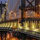 Manhattan Bridge, Study 2 by Randy  LeMoine