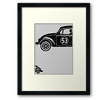 VW Herbie 53 vintage Framed Print