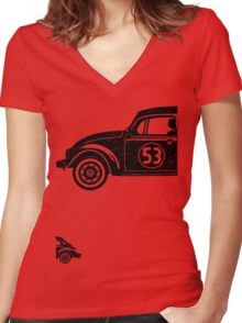 VW Herbie 53 vintage Women's Fitted V-Neck T-Shirt
