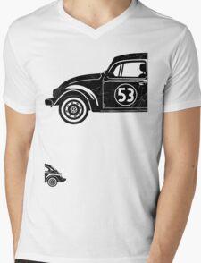 VW Herbie 53 vintage Mens V-Neck T-Shirt