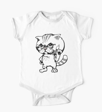 Mr Eggs the Exotic Shorthair One Piece - Short Sleeve