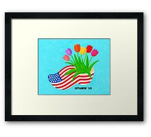 FOR MY AMERICAN FRIENDS Framed Print
